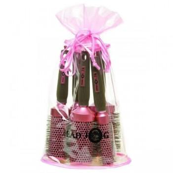 headjog 5 pinkbrush set
